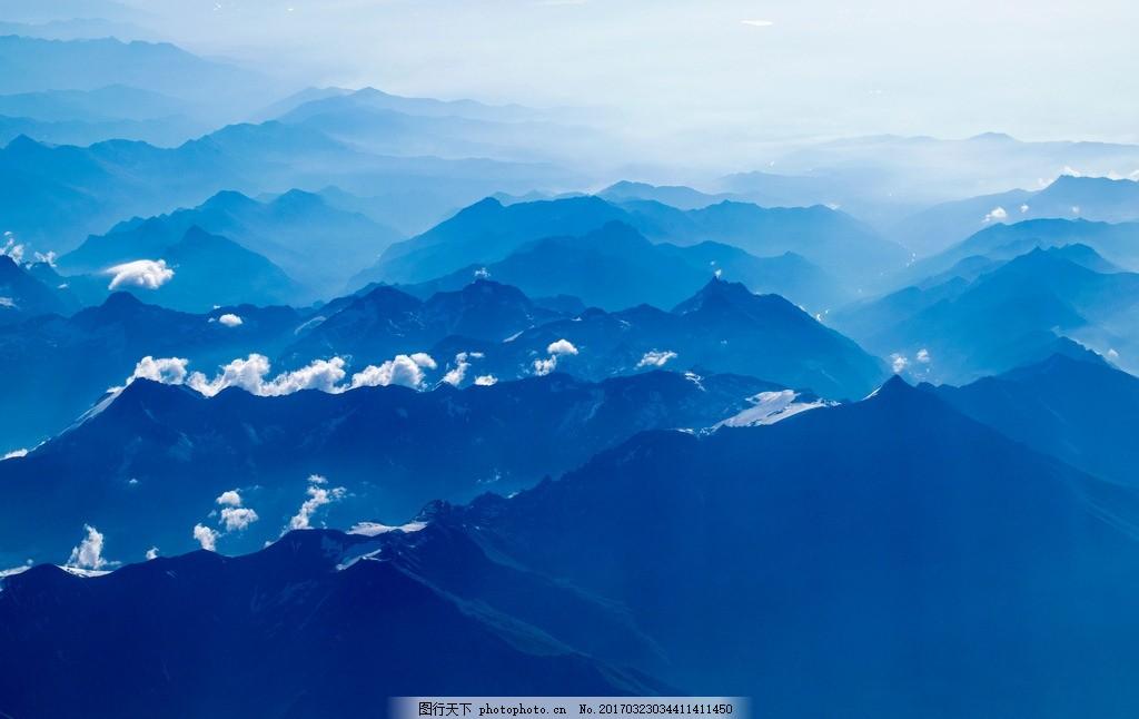 山脉 大山 雪地 雪山 蓝天白云 冬天 风景 大自然 大山 山脉 群山