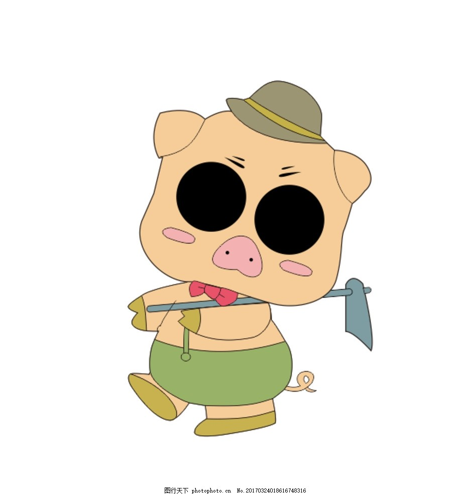 卡通猪 卡通动物 小猪 猪 矢量猪 矢量动物 设计 动漫动画 其他 cdr