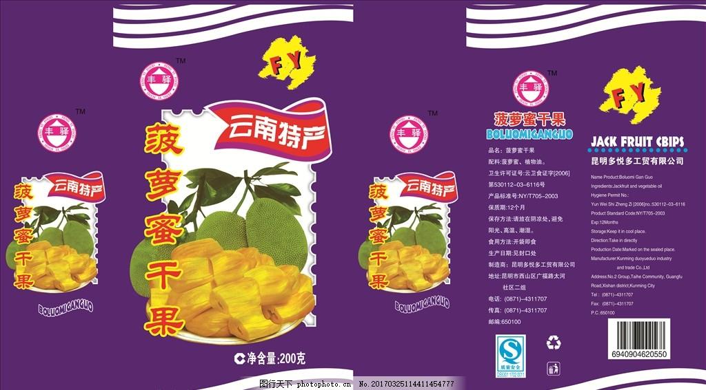 菠萝蜜 干果 包装 食品 高档产品 广告设计 包装设计