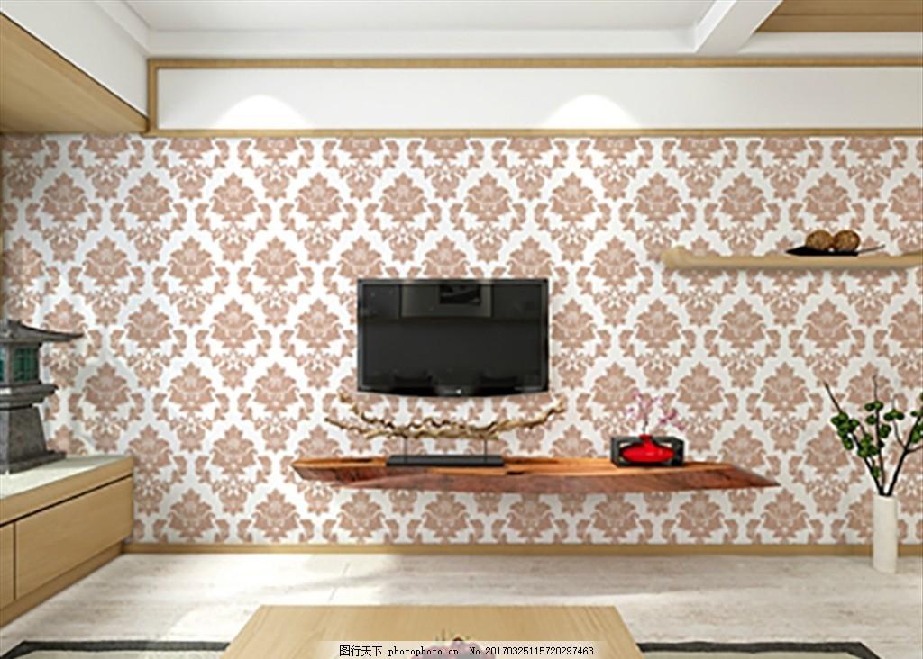 硅藻泥效果图 室内装修 硅藻泥效果 硅藻泥背景墙 墙面装饰 欧式花纹