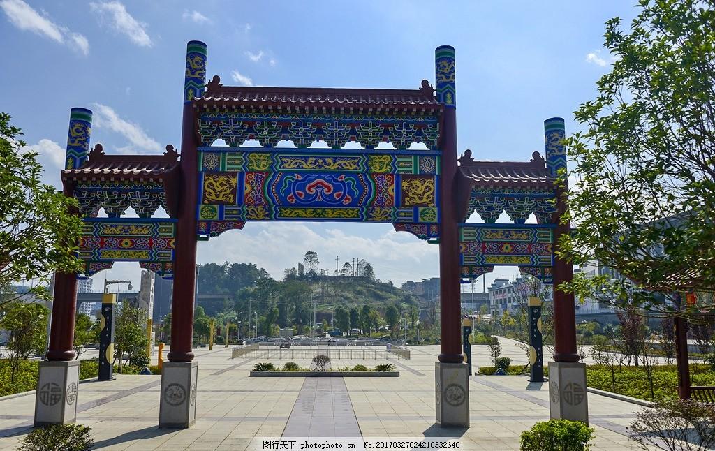 雕花 雕梁画栋 雕刻 中国风 古代建筑 古典建筑 彩绘 手绘 阁楼 牌坊