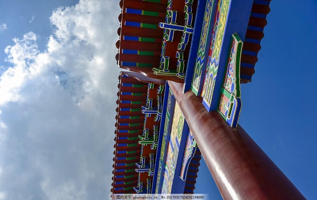 雕花 雕梁画栋 雕刻 中国风 古代建筑 古典建筑 彩绘 手绘 阁楼 摄影