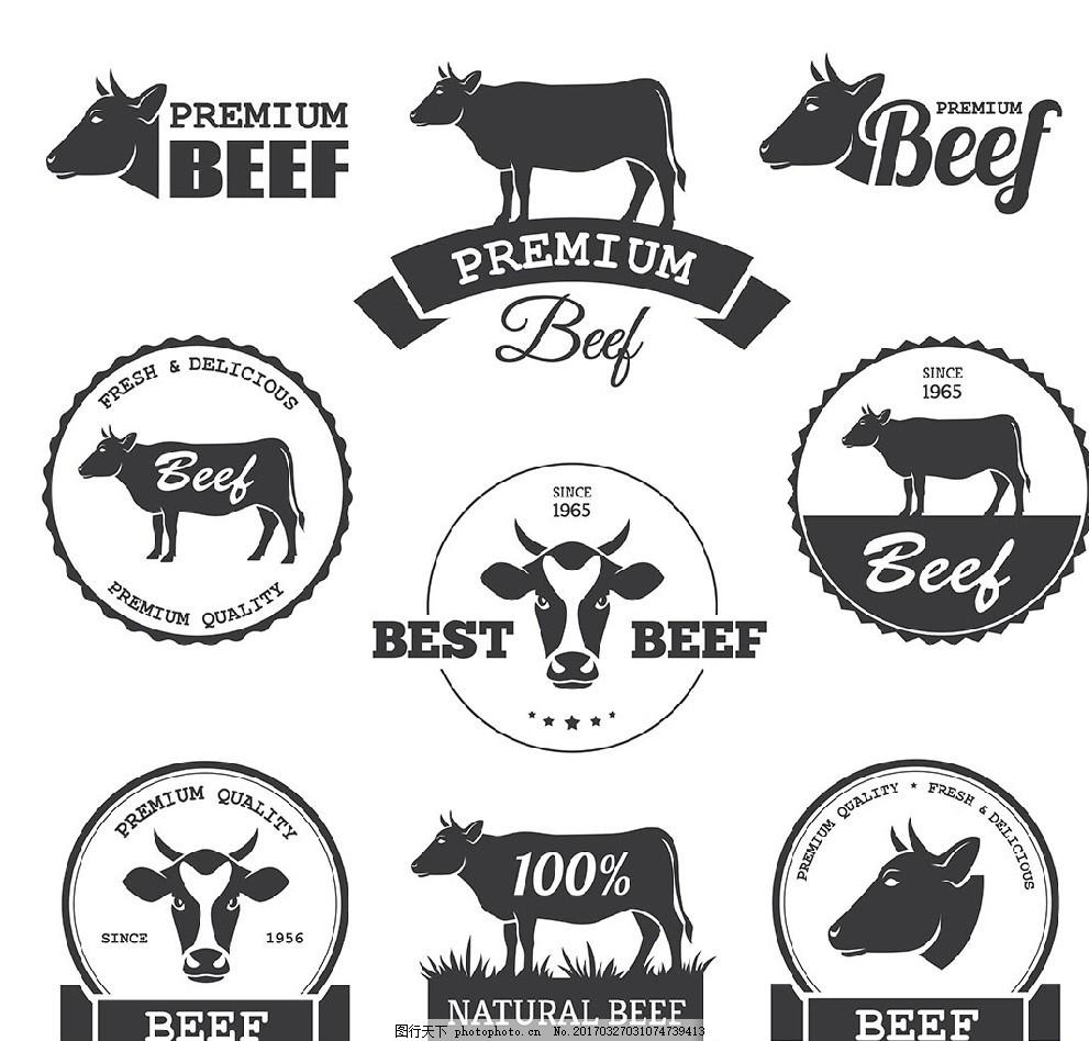 动物标签 卡片 商标 图表 信息图表 对话框 促销贴 欧式标签
