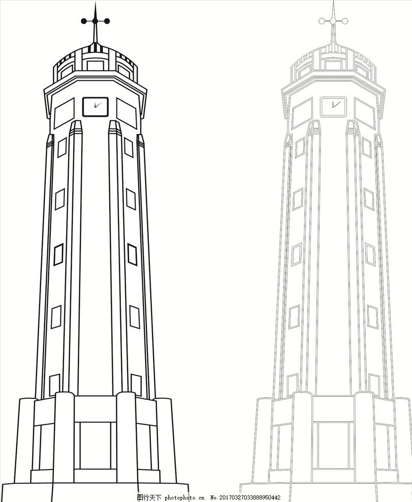 重庆建筑 解放碑 建筑 线稿 重庆 矢量图 设计 其他 图片素材 cdr
