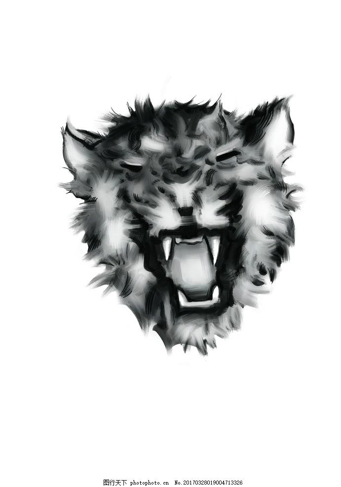动物手绘 豹子 笔刷 原画