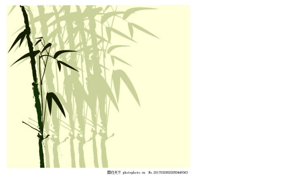 线条 竹子 矢量 中国风 轮廓图 古典 矢量图 设计 广告设计ai 绿色