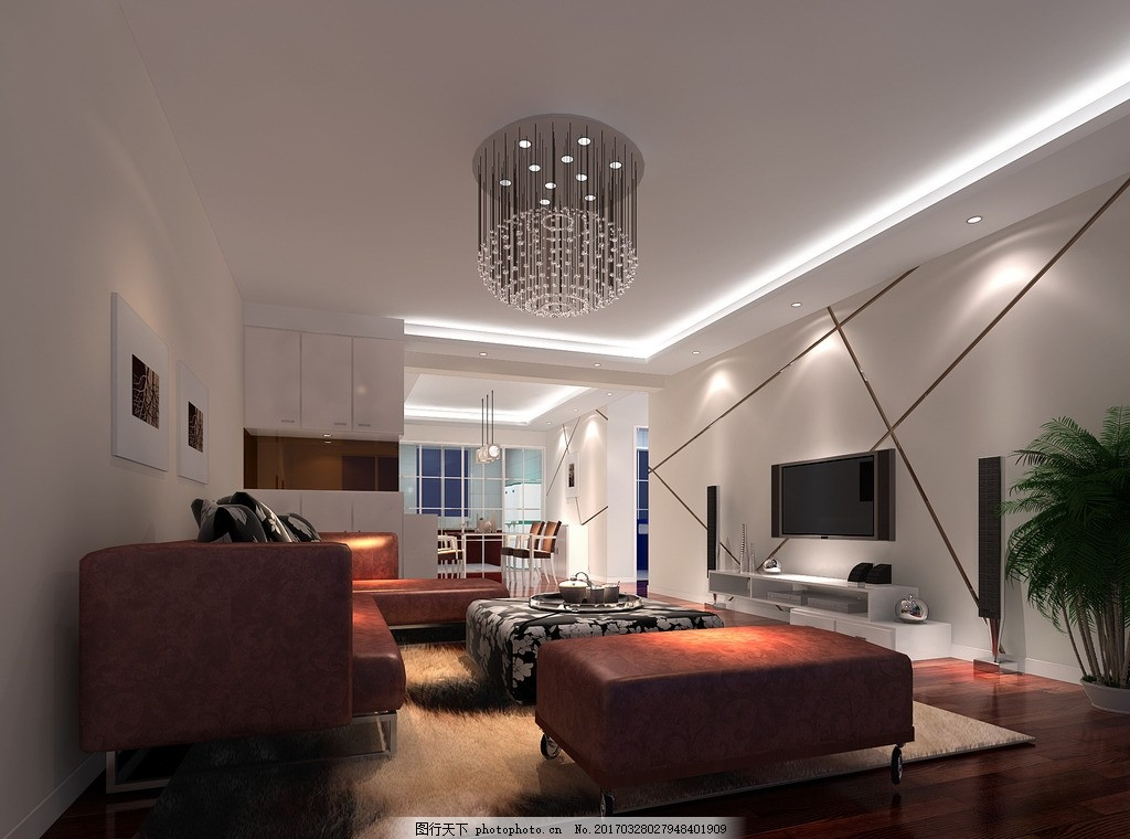 客厅 电视背景墙 室内效果图 客厅吊顶 客餐厅 鞋柜 酒柜 背景墙视