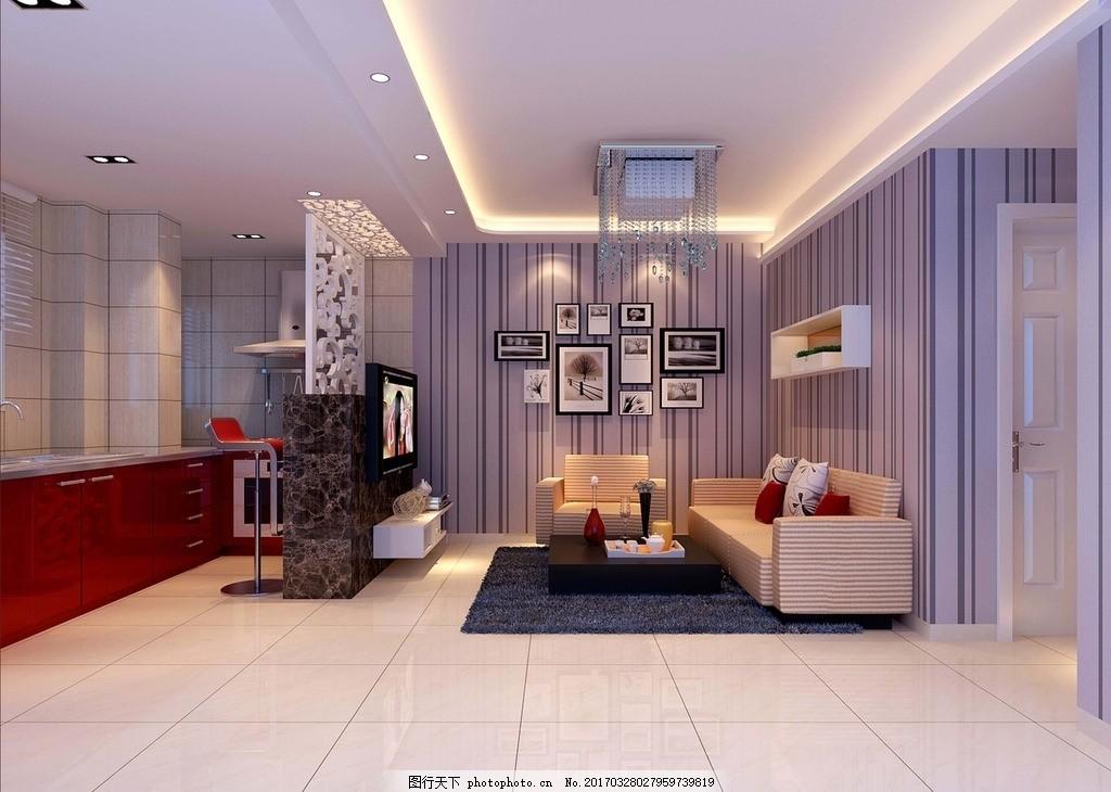 电视背景墙 室内效果图      客厅吊顶 客餐厅 鞋柜 吊顶 酒柜 背景墙