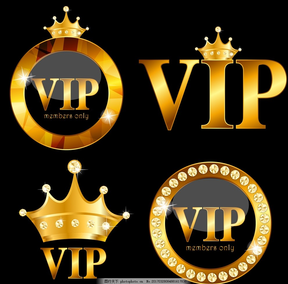 设计图库 海报设计 促销海报  皇冠造型vip图标矢量素材 黄色造型 vip