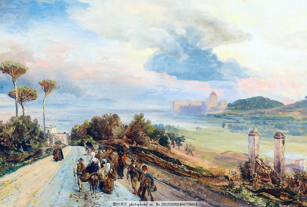 欧美国外装饰画 油画 油画风景 油画山水 风景油画 山水风景油画