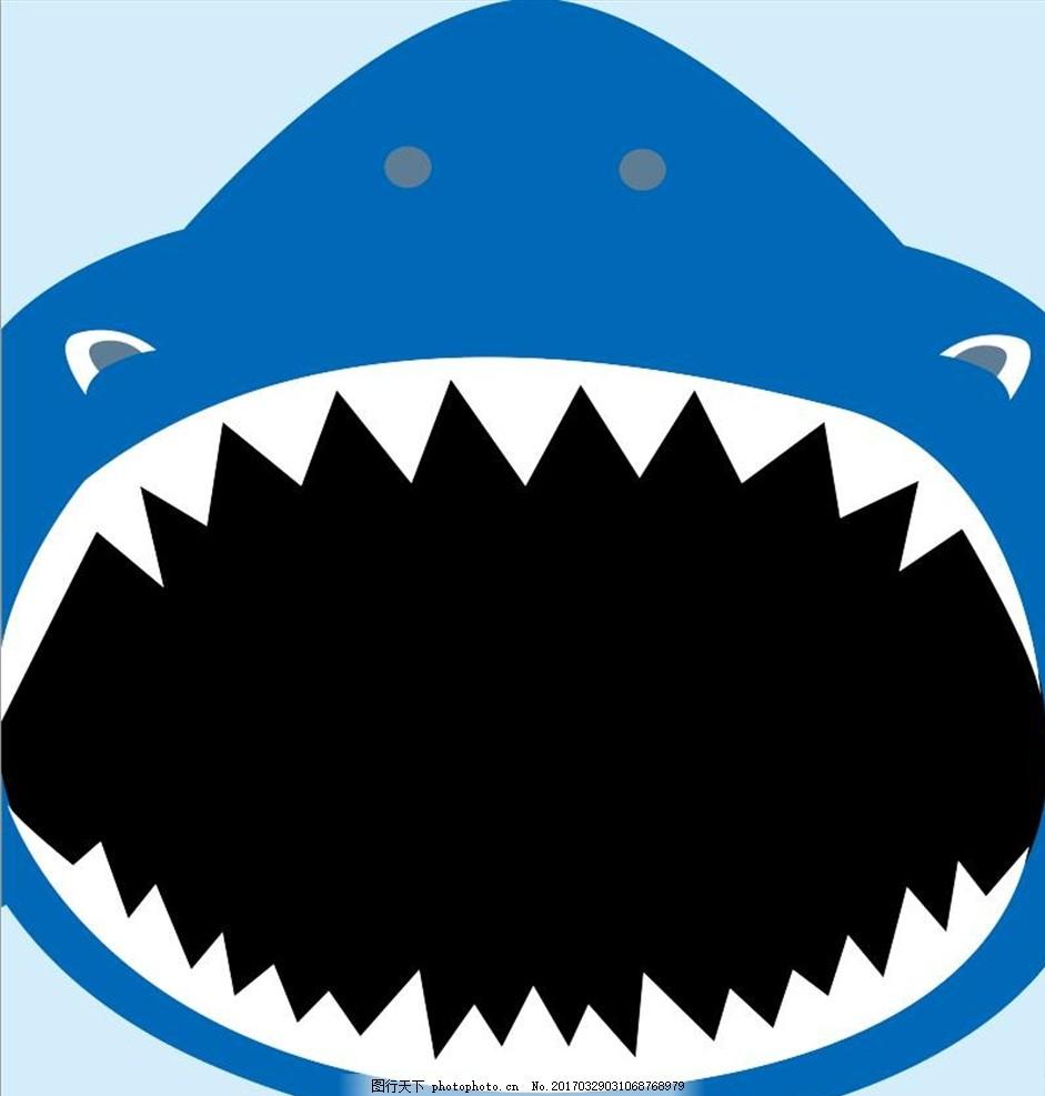 鲨鱼门 卡通鲨鱼 可爱鲨鱼 大嘴巴 张嘴鲨鱼 卡通动物 可爱动物
