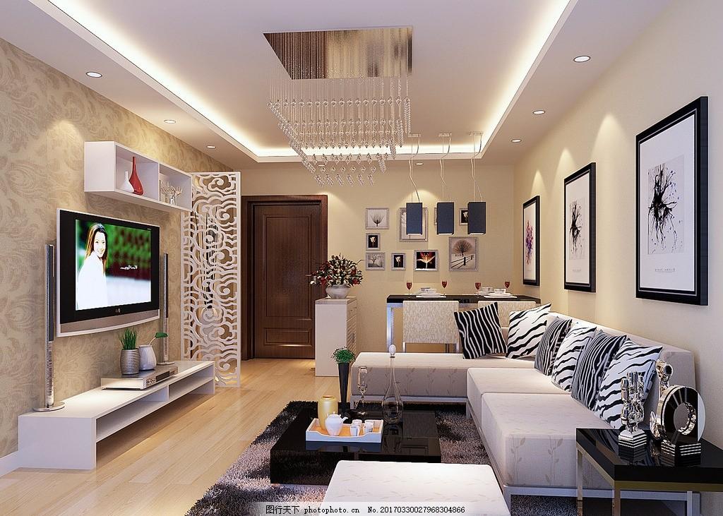 设计图库 环境设计 室内设计  现代简约 背景墙 客厅吊顶 餐厅吊顶 客