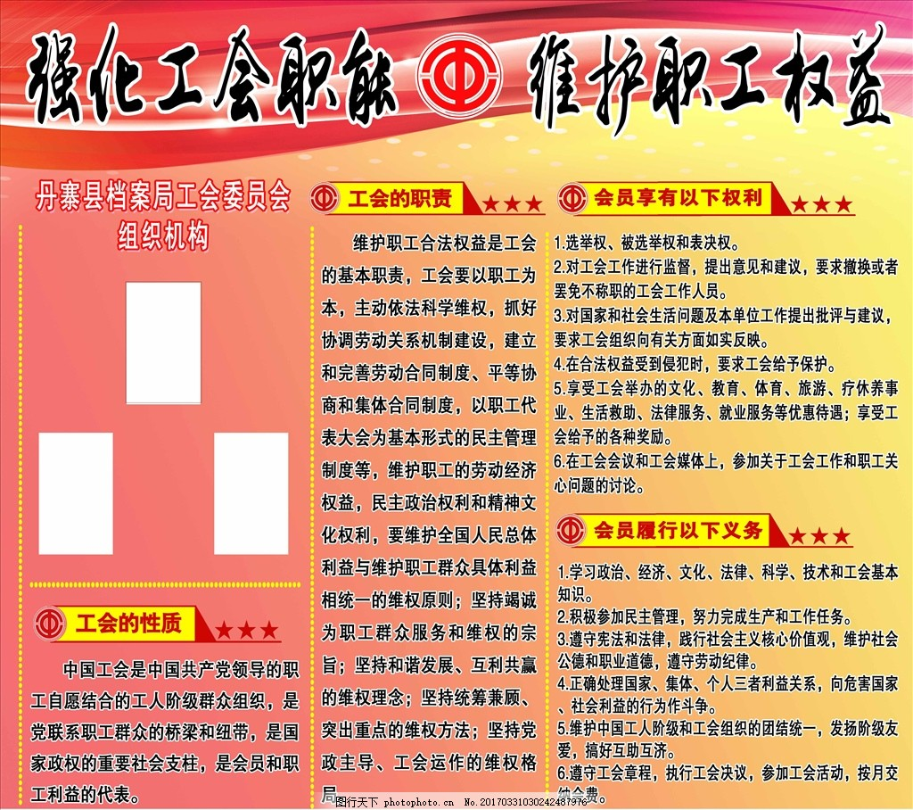 工会组织结构图表