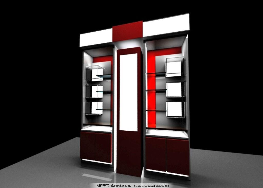 玻璃柜模型,展柜模型,商品柜模型,隔层柜模型,开放柜模型,3D模型,设计